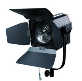Foco Fresnel LED PRO de 100w con cable DMX y aletas