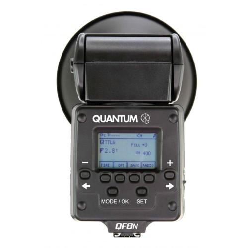 Q-Flash trio para Canon detalle del LCD