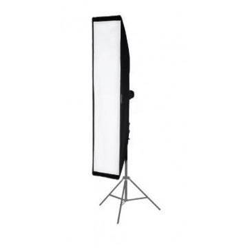 Stripbox vertical 40x180cm Elinchrom montado en pie de estudio