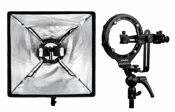 Ejemplo rótula Profoto RFI Speedlight Speedring en ventana de luz