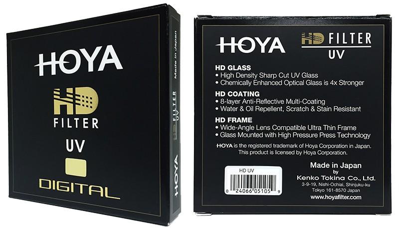 Filtro Hoya UV HD en caja
