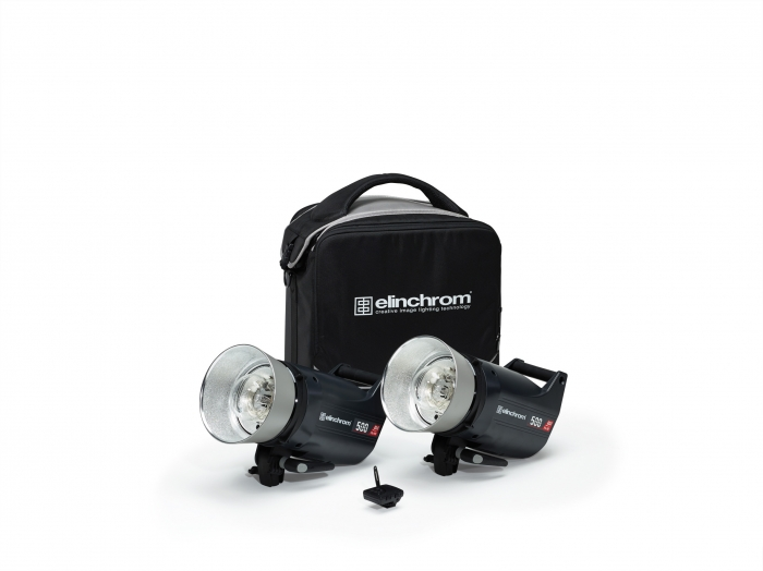 Kit 2 flashes compactos Elinchrom ELC PRO HD 500-500W