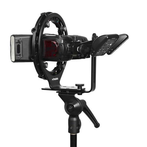 Rótula para flash compacto Profoto RFI Speedlight Speedring con flash y triggers
