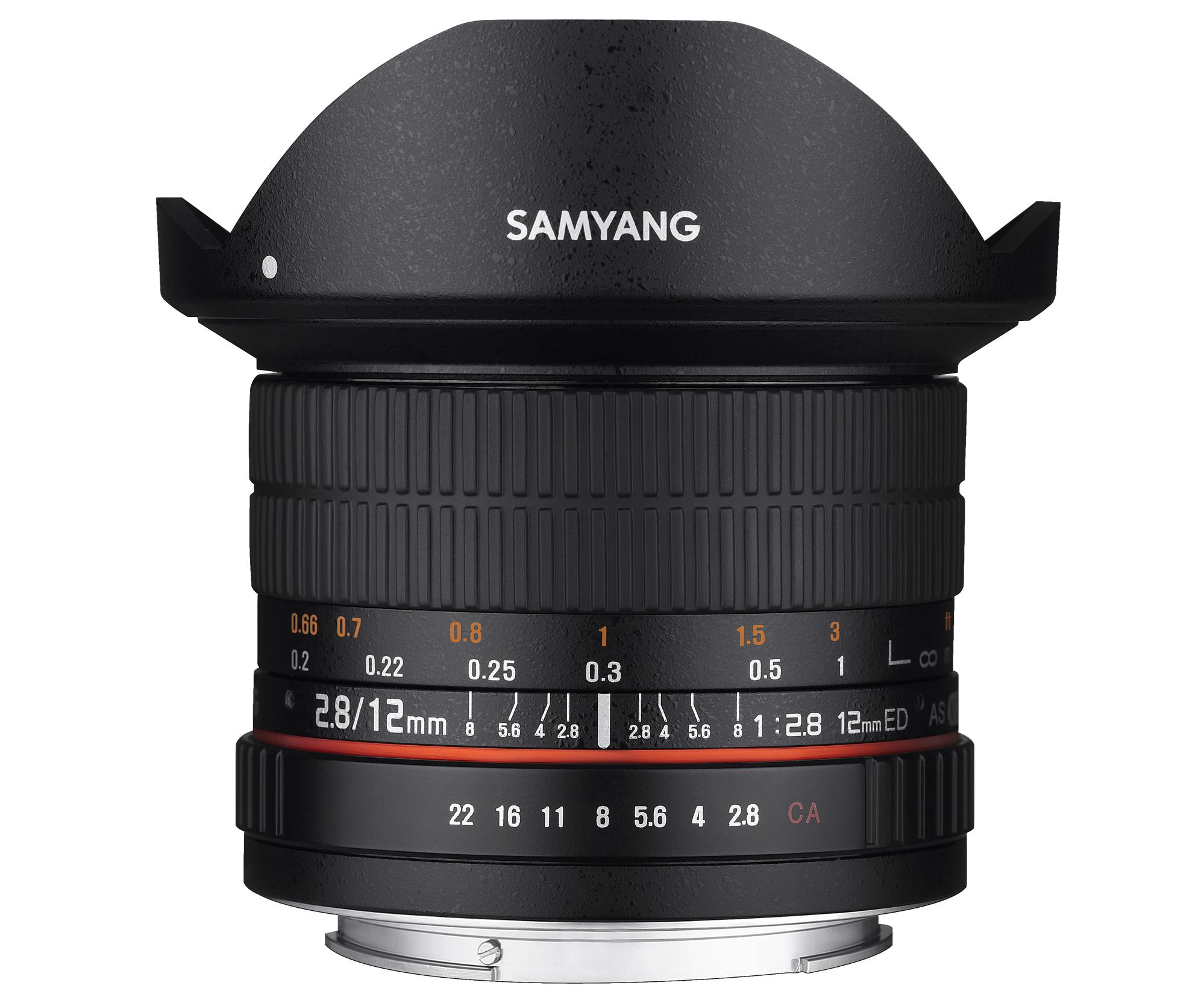 Samyang 12mm F2.8 ED AS NCS Fish Eye para todas las monturas