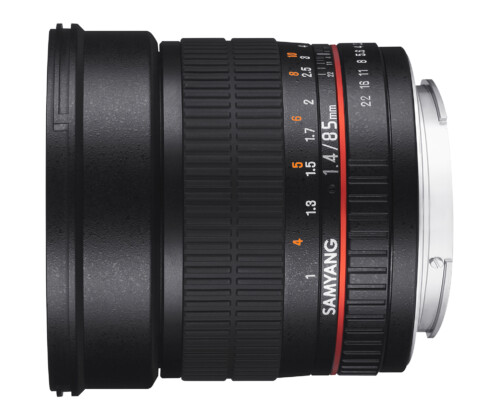 Samyang 85mm F1.4 AS IF UMC vista horizontal