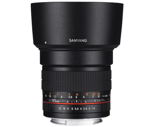 Samyang 85mm F1.4 AS IF UMC vista vertical