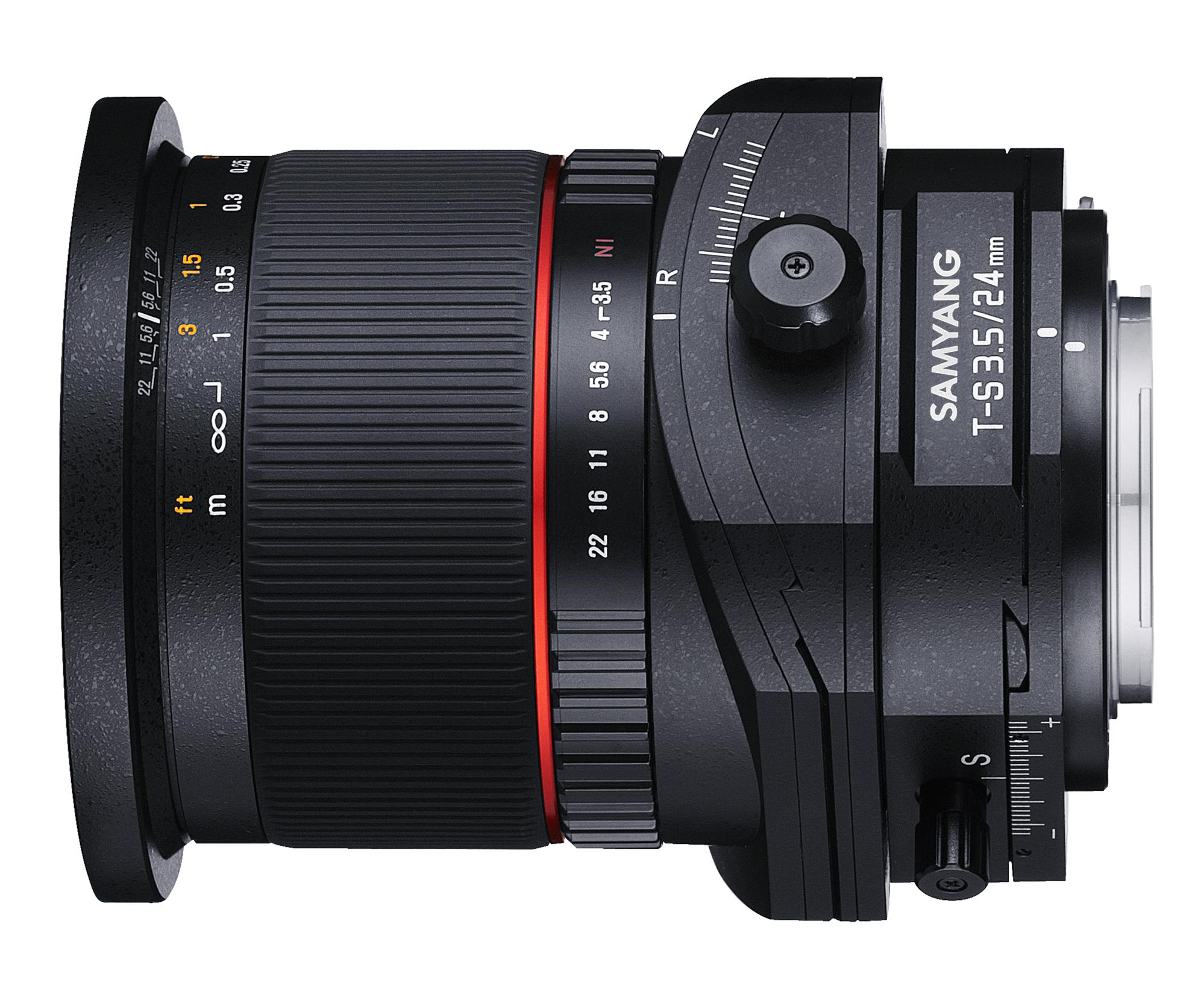 Samyang T-S 24mm F3.5 con control de perspectiva vista horizontal