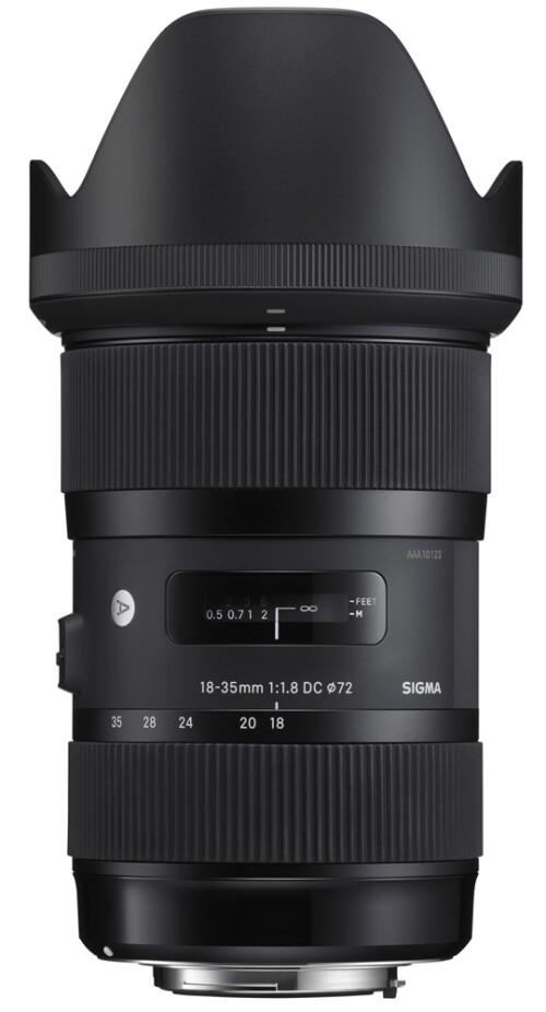 Sigma 18-35mm F1.8 DC HSM ART vista vertical