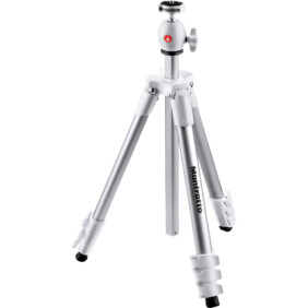 Trípode Manfrotto Compact light color blanco
