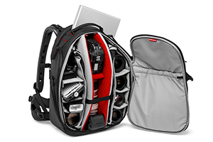 Mochila Manfrotto Professional Backpack interior modelo 30