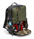 Mochila Manfrotto Street Backpack DSLR con dotación de ejemplo