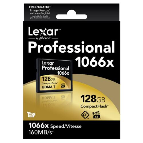 Compact Flash Lexar 160MB/s 16-32-64 y 128Gb