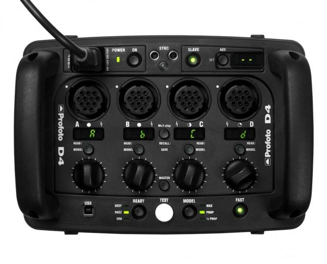 Controles generador de estudio Profoto D4 1200 2400 4800 Air