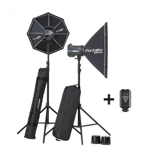 Kit 2 flashes de estudio Elinchrom BRX 500