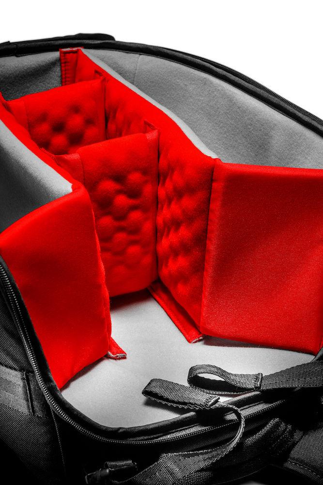 Mochila Manfrotto Professional Backpack modelo 20 vista interior