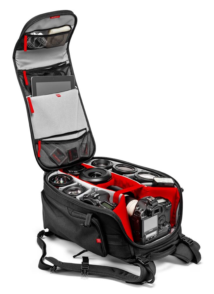 Mochila Manfrotto Professional Backpack dotación de ejemplo modelo 50