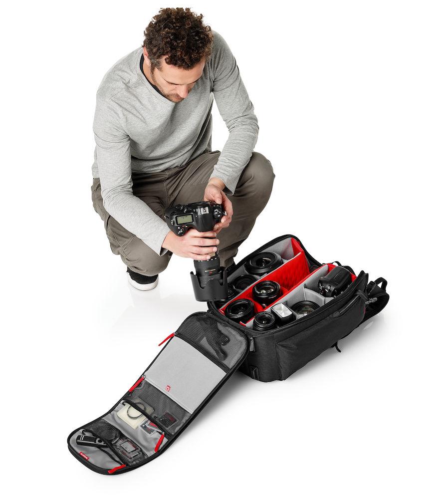Mochila Manfrotto Professional Backpack 50 ejemplo uso fotógrafo