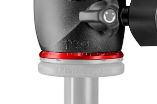 Rótula de bola y magnesio Manfrotto X-PRO BH-Q2 detalle pan