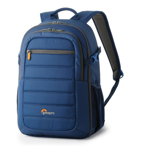 Mochila Lowepro Tahoe BP 150 color azul vista lateral