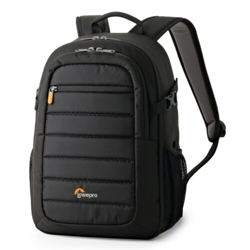 Mochila Lowepro Tahoe BP 150 color negro vista lateral