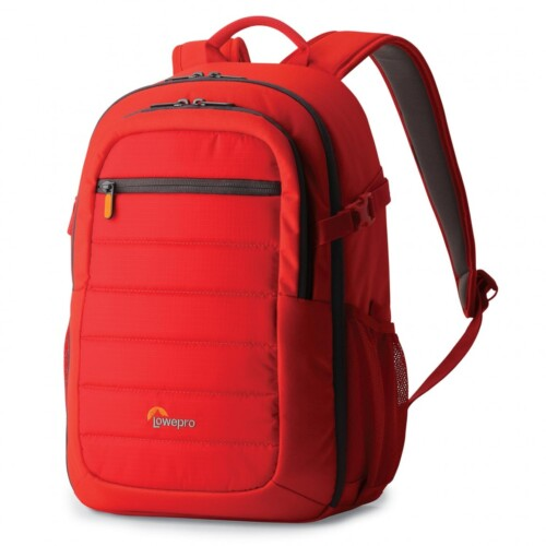 Mochila Lowepro Tahoe BP 150 color rojo vista lateral