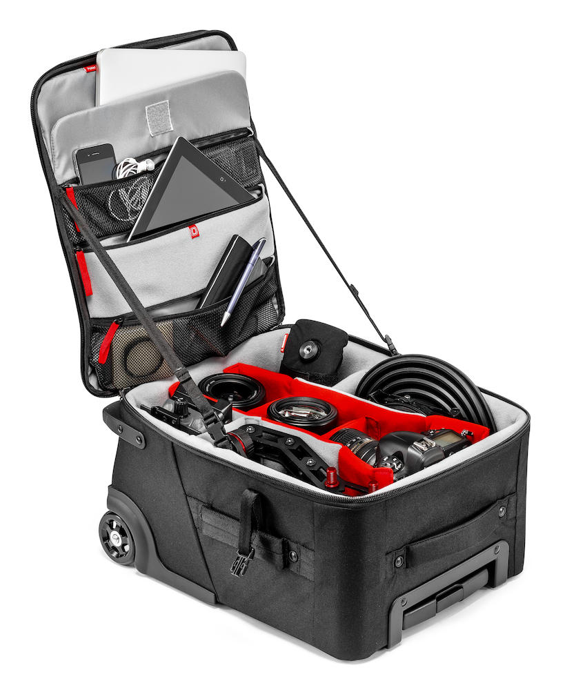 Dotación de ejemplo en Trolley Manfrotto Protector para lluvia Professional Roller Bag 50