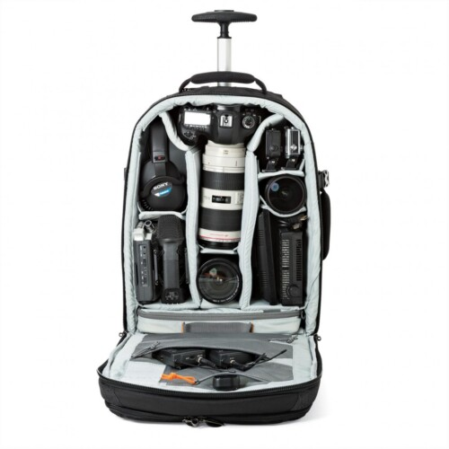 Lowepro Pro Runner RL x450 AW II con dotación ejemplo Canon