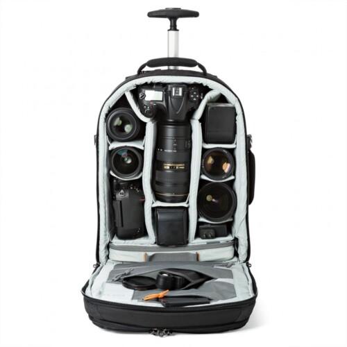 Lowepro Pro Runner RL x450 AW II con dotación ejemplo Nikon