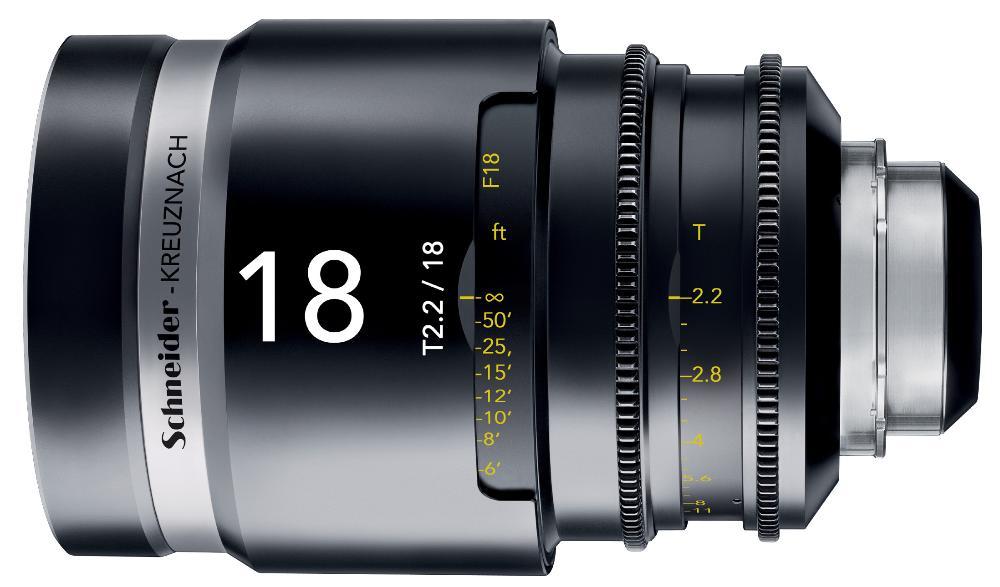 Schneider Xenar III 18mm T2.2 la óptica de cine ultra angular