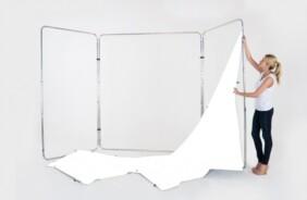 Tela de recambio para fondo panorámico Lastolite de color blanco