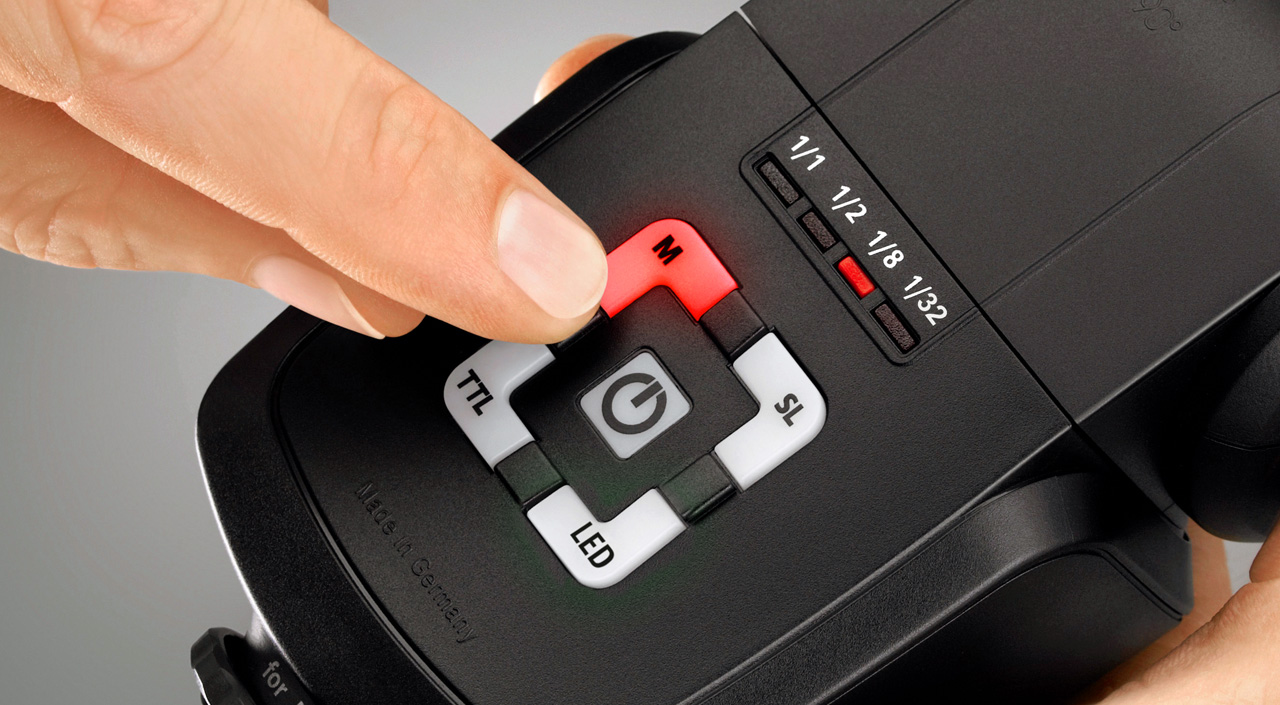 Detalle botones flash Metz 44 AF-2