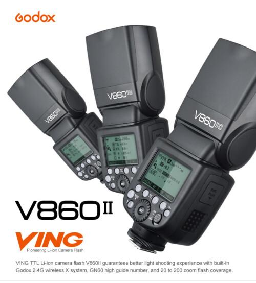 Flash Godox Ving V860II para Canon, Nikon o Sony