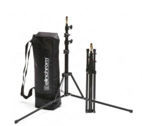 Juego 2 pies de estudio Elinchrom 52-190cm con bolsa negra acolchada