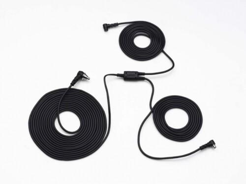 Cable de sincronización PC-Sync triple para fotómetro y flash