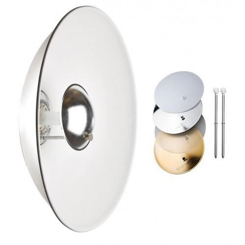 Beauty Dish blanco Elinchrom con discos de colores