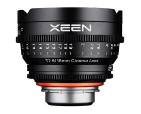 Objetivo para cine Xeen 16mm T2.6