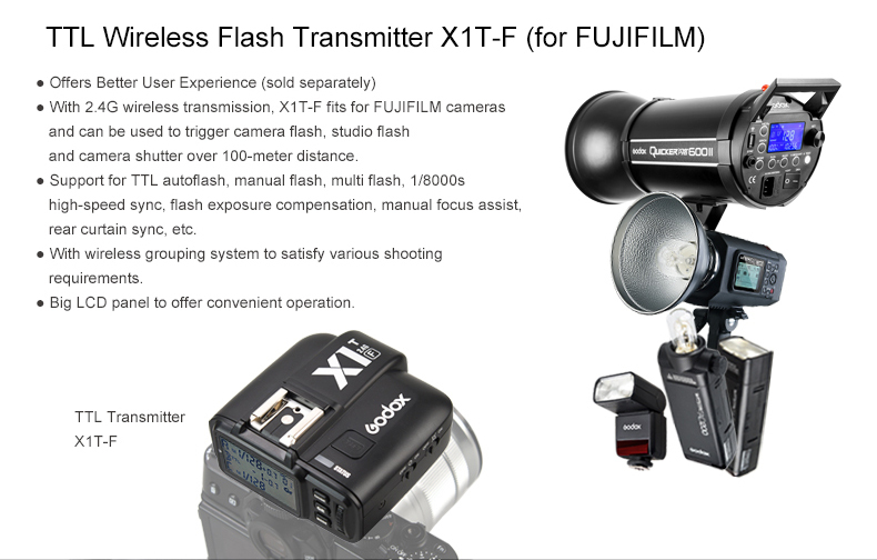 Conectividad TTL Wireless Godox TT685 Fuji
