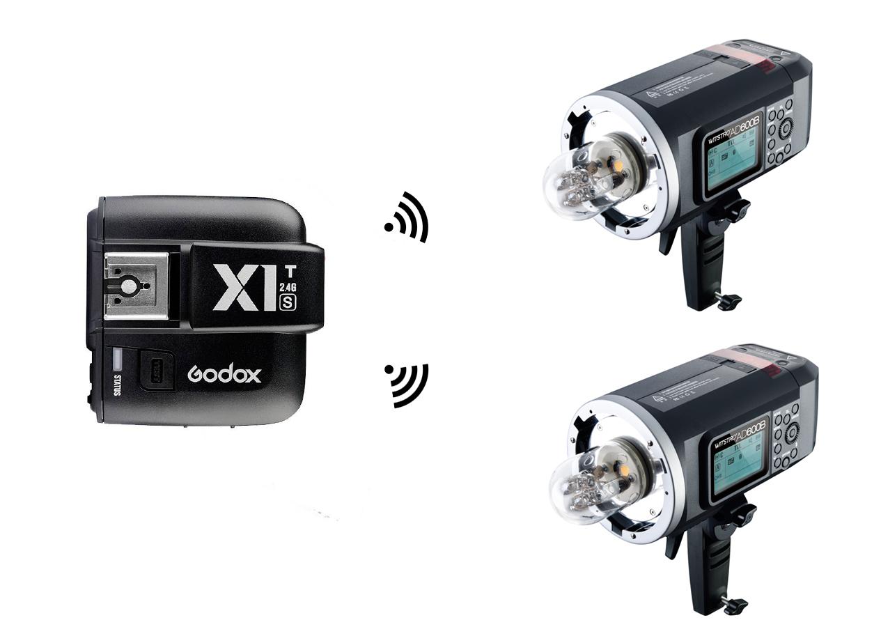 Kit 2X Godox AD600B + emisor X1T-S para Sony