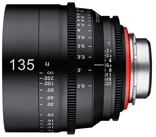 Vista lateral Xeen 135mm T1.5
