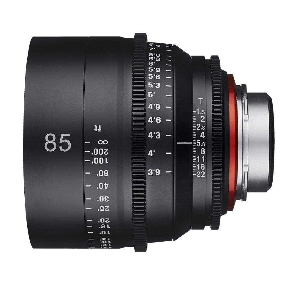 Vista lateral Xeen 85mm T15.