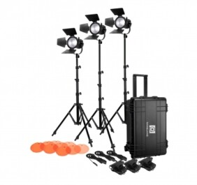 Kit 3 fresnel Led Nanguang CN-30F ideal para vídeo y reportaje