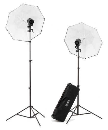 Kit Hedler Digi-C P 2x1000W con pie y bolsa con bolsa, paraguas y pies