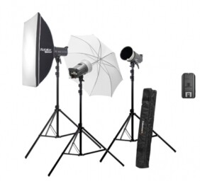 Kit 3 flashes estudio Elinchrom D-Lite RX 4, emisor, pies y modificadores