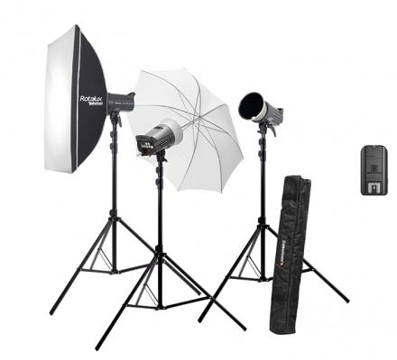 Kit 3 flashes estudio Elinchrom D-Lite RX 4, emisor, pies y modificadores