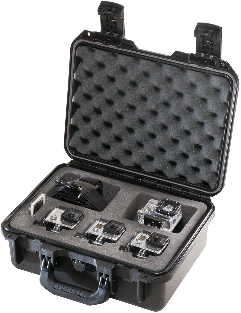 Capacidad 3 cámaras GoPro más accesorios