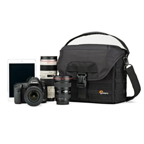 Bandolera Lowepro ProTactic 180 AW para DSLR, 3 lentes y tablet