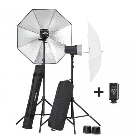 Kit flashes de estudio Elinchrom D-Lite RX Two/Two Umbrella To Go