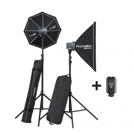 Kit Elinchrom D-Lite One/One Softbox To Go con ventanas bolsas y emisor