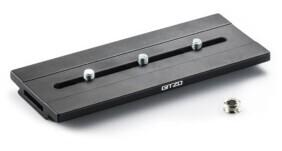 Zapata rápida larga panorámica Gitzo de aluminio y perfil D