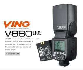 Flash Godox Ving V860IIF para Fujifilm